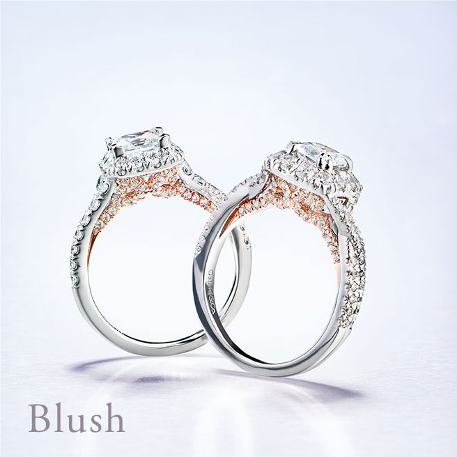 Gabriel & Co Engagement Rings Blush